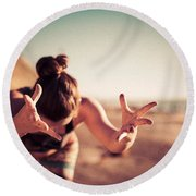 Round Beach Towel featuring the photograph Yogic Gift by T Brian Jones