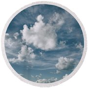 yonder No.2 Round Beach Towel by Tom Druin
