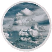 Yonder Round Beach Towel by Tom Druin