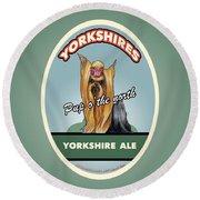 Yorkshire Ale Round Beach Towel