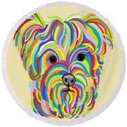 Yorkshire Terrier ... Yorkie Round Beach Towel