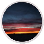 Yorkton Sunrise Round Beach Towel by Ryan Crouse