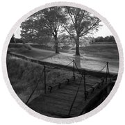 Yorktown - Battlefield Foot Bridge Round Beach Towel