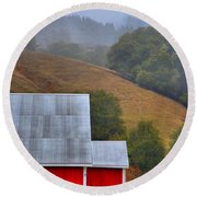 Yorkville Barn Round Beach Towel