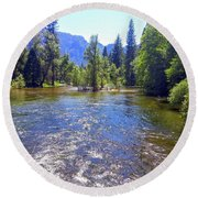 Yosemite 14 Round Beach Towel