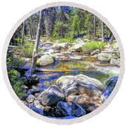 Yosemite 3 Round Beach Towel