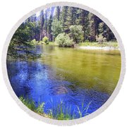 Yosemite 6 Round Beach Towel