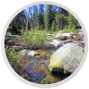Yosemite 9 Round Beach Towel
