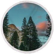 Yosemite Campside Evening Round Beach Towel