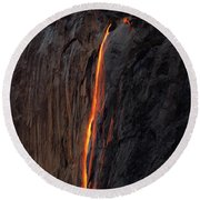 Yosemite Fire Falls - 2016 Round Beach Towel