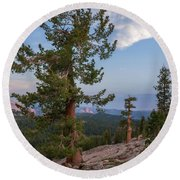Round Beach Towel featuring the photograph Half Dome From May Lake by Sharon Seaward