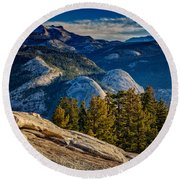Yosemite Morning Round Beach Towel