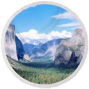 Yosemite National Park, California, Usa Round Beach Towel by Panoramic Images