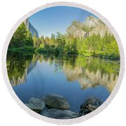 Yosemite Round Beach Towel by RC Pics