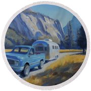 Yosemite Splendor Round Beach Towel