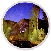 Yosemite Starry Night Round Beach Towel