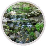 Yosemite Stream Round Beach Towel