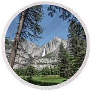 Yosemite View 13 Round Beach Towel