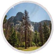 Yosemite View 18 Round Beach Towel
