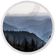 Yosemite View 27 Round Beach Towel