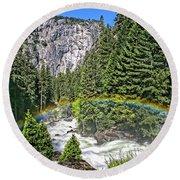 Yosemite View 29 Round Beach Towel