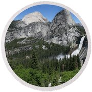 Yosemite View 30 Round Beach Towel