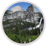 Yosemite View 30 Round Beach Towel