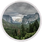 Yosemite View 36 Round Beach Towel