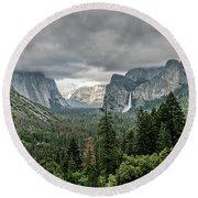 Yosemite View 36 Round Beach Towel