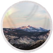 Yosemite View Round Beach Towel by Sharon Seaward