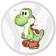 Yoshi Watercolor Round Beach Towel