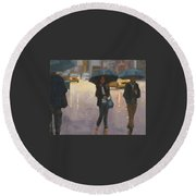 You And I And The Rain Round Beach Towel