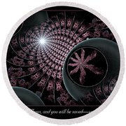 You And Your Household Round Beach Towel
