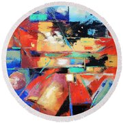 You Are Here Round Beach Towel