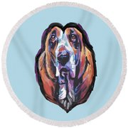 You Are My Basset Hound Heart Round Beach Towel