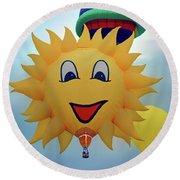You Are My Sunshine - Hot Air Balloon Round Beach Towel