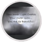 You Are So Beautiful Round Beach Towel