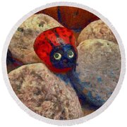 Round Beach Towel featuring the photograph You Are Special  by Claire Bull