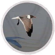 You Following Me Round Beach Towel by Eric Liller
