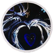 You Gave My Heart Wings Round Beach Towel