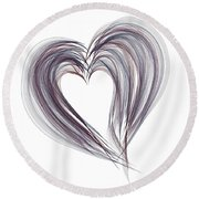 You Have My Heart Round Beach Towel