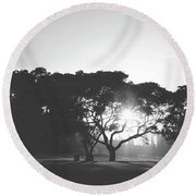 Round Beach Towel featuring the photograph You Inspire by Laurie Search