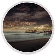 Enchanted Pier Round Beach Towel