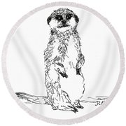 You Rang, Sir? Round Beach Towel