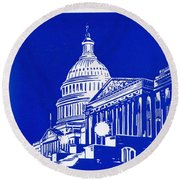 You Should See Washington Round Beach Towel