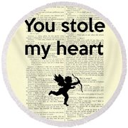 You Stole My Heart, Cupid Round Beach Towel