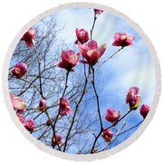 Young Blooms Round Beach Towel