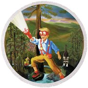 Young Explorer Round Beach Towel