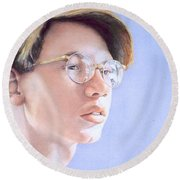 Young Nate Round Beach Towel