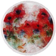 Young Ones Round Beach Towel